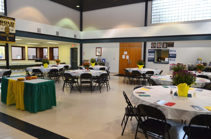 Room is setup for the Apprenticeship Dinner on October 19, 2017