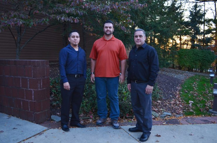 Ioannis Kleoudis (center) from Local 476 completed the Painter - CAS program