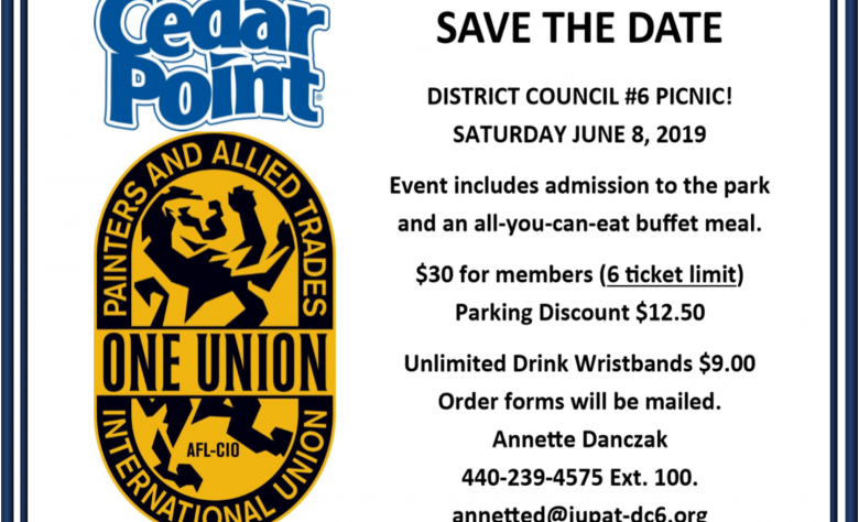 DC6 Cedar Point Day is Saturday June 8th
